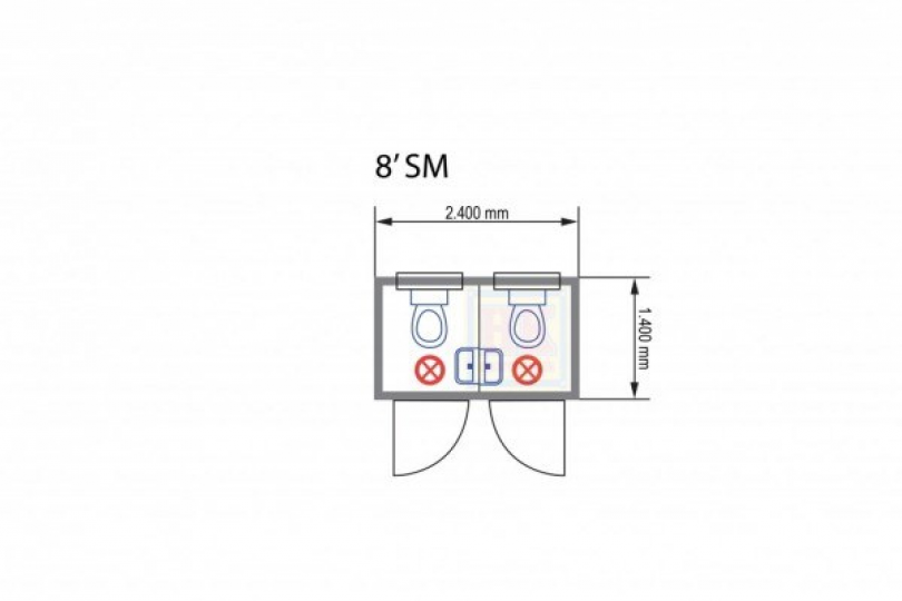Plantegning av WC-container